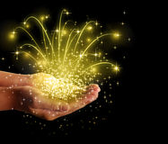 Stars  magic in your hands Royalty Free Stock Image