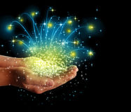 Stars  magic in your hands Royalty Free Stock Photo