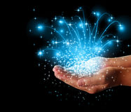 Stars  magic in your hands Stock Photo