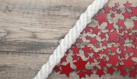 Stars and marine rope Stock Photo