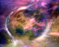 Stars and material falls into a black hole. Stock Images