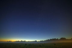 Stars of the Milky Way galaxy in the night sky. Space in the bac. Kground of the morning dawn Stock Images