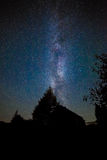 Stars Milky Way in the night sky Royalty Free Stock Images