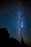 Stars Milky Way in the night sky Stock Photo