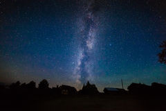 Stars Milky Way in the night sky Stock Image