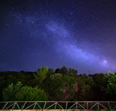 Stars, milky way. Sky with stars in night, landscape Royalty Free Stock Image