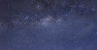Stars and the milky way in the sky Royalty Free Stock Photos
