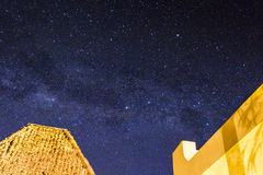 Stars and the milky way in the sky Stock Photography