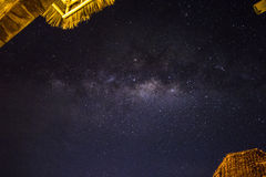 Stars and the milky way in the sky Royalty Free Stock Photography
