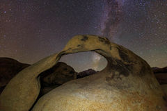 Stars at Mobius Arch, California, USA.. Royalty Free Stock Photos