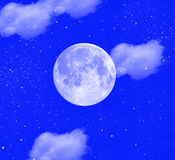 Stars with moon Royalty Free Stock Photo