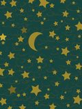 Stars and moon. Classic dark background vector with stars and moon Royalty Free Illustration