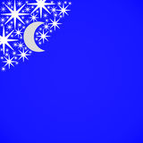 Stars and moon. Closeup of stars and moon icons on white background Royalty Free Stock Images