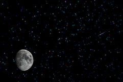 Stars moon comet space Royalty Free Stock Images