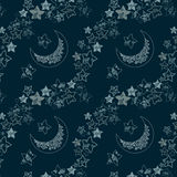 Stars and moon texture Royalty Free Stock Photography