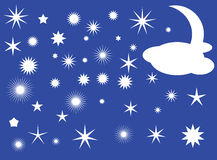 Stars and Moon Royalty Free Stock Photo