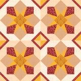 Stars mosaic tiles Stock Image