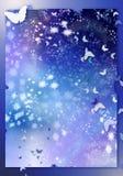 Stars and moths royalty free illustration