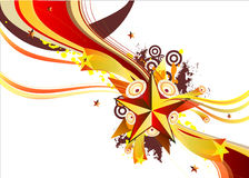 Stars and music. Abstract background with star and music elements royalty free illustration