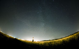 Milky Way Stars. My on this foto Royalty Free Stock Image