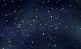 Stars with nebula background Stock Photo