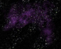 Stars and nebula clouds in deep space Stock Photography