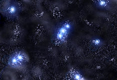 Stars and nebula's. Space background with stars and nebula's Royalty Free Stock Photos