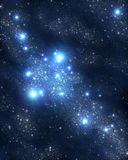 Stars and nebulae stock photos