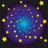 Stars at night. Stars shining in the sky at night Royalty Free Stock Image