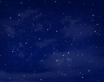 Stars in a night blue sky Royalty Free Stock Photos