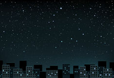 Stars night over city Royalty Free Stock Photography