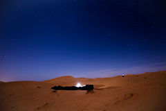 Stars at night over the dunes, Morocco Royalty Free Stock Images