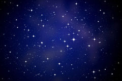 Stars in the night sky. Background stock photos