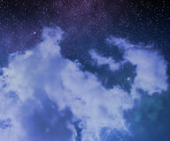 Stars on Night Sky Abstract Space Background Stock Photo