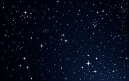 Stars in the night sky. Background vector illustration