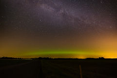 Stars in the night sky. Royalty Free Stock Photos