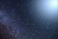 Stars in the night sky brightly Stock Photography