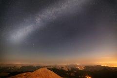 Stars in the night sky. Stock Photos