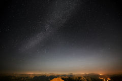 Stars in the night sky. Royalty Free Stock Photography
