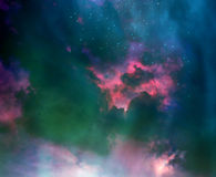 Stars in the night sky,nebula and galaxy Royalty Free Stock Photography