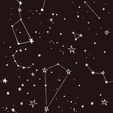 Stars in the night sky pattern royalty free stock photos