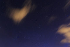 Stars in night sky Royalty Free Stock Images