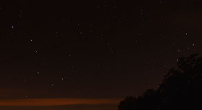 Stars and north star, Polaris.  Big dipper Ursa Major Stock Photos