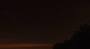 Stars and north star, Polaris.  Big dipper Ursa Major Stock Photos