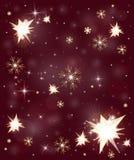 Stars o fundo do inverno dos flocos de neve ilustração royalty free