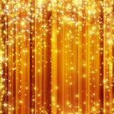 Stars o fundo dourado Imagens de Stock Royalty Free