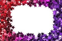 Stars o quadro dos confetes Imagem de Stock
