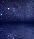 Stars ocean reflections Royalty Free Stock Photo