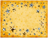 Stars on Old Paper Royalty Free Stock Photo
