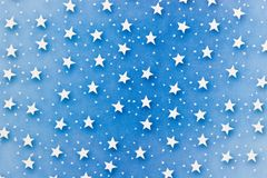 Stars On Blue Royalty Free Stock Images